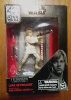 "Star Wars Black Series Luke Skywalker 3 3/4"" Titanium Series 40th Anniversary"