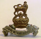 ! WWI British Brass Cockade Cap Badge ROYAL ARMY PAY CORPS RAPC Fide et Fiducia