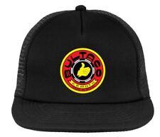 Bultaco vintage motocross cap, AHRMA retro trucker hat , snapback black