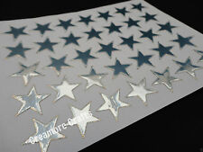100 SILVER STARS SCHOOL TEACHER OFFICE MERIT REWARD STICKERS SELF ADHESIVE