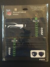 Seattle Seahawks Licensed 2 Pack Adult Face Mask Covering -50% Off SRP FREE S&H!