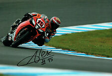 Alex De ANGELIS SIGNED WSBK Autograph 12x8 Aprilia Rider Photo A AFTAL COA