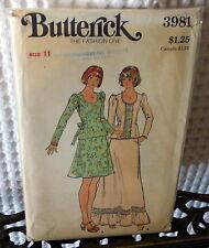 70s Butterick Top & skirt pattern 3981 11/33.5 bust