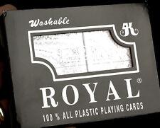 1 NEW Set Double Decks Playing Cards Royal Brand Washable 100% Plastic, 2 Decks