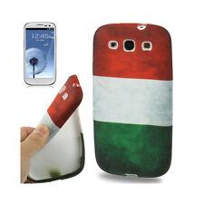 Softcase Schutzhülle Cover für Samsung Galaxy S3 Retro Italien Flagge Fahne
