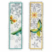 Butterfly (Set of 2) : Vervaco Counted Cross Stitch Kit : Bookmark- PN0165133