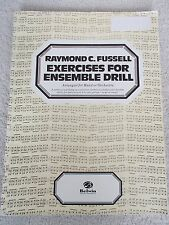 Fussell Exercises Ensemble Drill Band Orchestra Unmarked