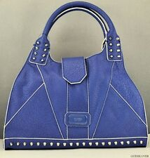 NWT Borsetta GUESS Satchel Rebel BORCHIE DONNA Bluberry BAG