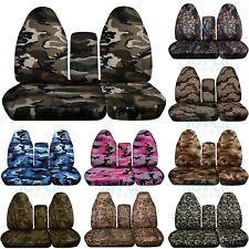 96-03 Ford F-150/F-250/F-350 40-60 Camo Truck Bench Seat Covers Console F-Series