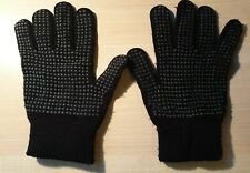 Oxylane Black Gloves With Grips - One Size Adult