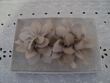 Beige Flower Barrette - Handmade