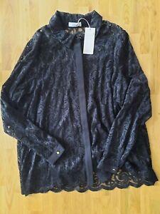 Gorgeous Black Lace Cardigan/Top Per Una M&S size 20 NEW