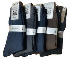Lot 9 à 30 paires chaussettes homme Fil d'écosse 100% coton taille 39 au 49