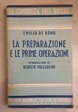 LA PREPARAZIONE E LE PRIME OPERAZIONI DE BONO MUSSOLINI 1937