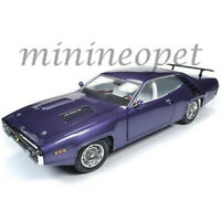 AUTOWORLD AMM1182 1971 PLYMOUTH ROAD RUNNER HARD TOP VIOLET 1/18 DIECAST PURPLE