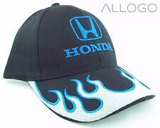 Hat Cap Licensed Honda Flames Silver With Blue Trim HD1001 HR