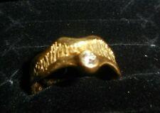 Damen Ring 750 Gold 18 Karat mit kleinem Brillant ca. Größe 54