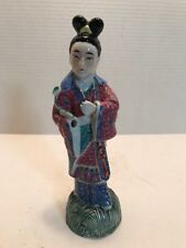 Asian Art Woman Figure - Missing Hand - Statue - Famille Rose?