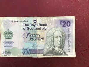 Rare £20 Pound Note Commemorate 100th Birthday Queen Mother.