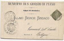 P8903  Annullo numerale a sbarre,Bologna, S.Giorgio in Piano, 1882