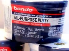 3M Bondo ,All Purpose Putty,one 6 oz can/ hardner, look at case lot also