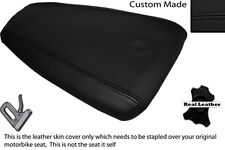 BLACK STITCH CUSTOM FITS ITALJET 125 DRAGSTER REAR PILLION LEATHER SEAT COVER