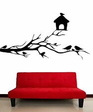 Wall Stickers Vinyl Decal Tree Branch Birds Cage Romantic Decor Bedroom (z2063)