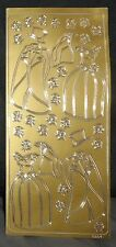 BN - CRAFTS - PEEL OFF STICKERS - DRESSES/MORNING SUITS/FLOWERS - GOLD - STYLE 1