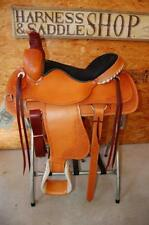 "16"" G.W. CRATE ROPING RANCH SADDLE NEW FREE SHIP TRAIL MADE IN ALABAMA USA"