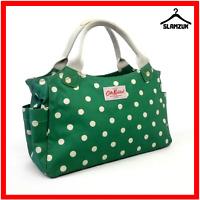 Cath Kidston Oilcloth Green Polka Dot Tote Bag Handbag Bag Everyday Bag C7
