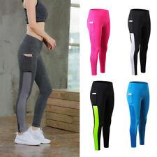 Da Donna Sport Atletico Leggings con una tasca Fitness Running Jogging Jeggings