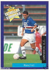 Rare '96 Panini Italy's EUROPEAN SUPER STAR ROBERTO MANCINI with SAMPDORIA U.C.