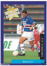Rare '96 Panini Italy's EUROPEAN SUPER STAR ROBERTO MANCINI with SAMPDORIA U.C.