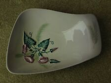 CARLTON WARE PALE LILAC HANDLED DISH CONVOLVULUS MORNING GLORY AUSTRALIAN DESIGN