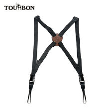 TOURBON Nylon&Leather Binocular Harness Strap Quick Release Camera Belt Hunting