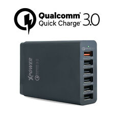Xpower Smart Qualcomm 3.0 58W 6 Port Quick Charge Family Sized USB Charger Black
