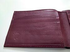 Vintage ROLEX red/brown Leather Wallet CARTERA  Portefeuille Portafoglio ROLEX