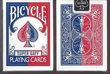 1 DECK Bicycle Super Gaff V2 (blue) playing cards FREE USA SHIPPING!