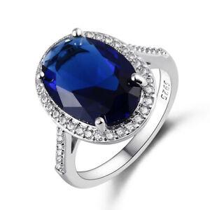 925 Silver Rings Rose Gold Amethyst&Ruby&Emerald&Aquamarine Fashion Jewelry Gift