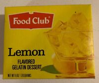 Vintage 1970's Food Club Lemon Gelatin Dessert Jello Unopened Full Box 6oz Topco