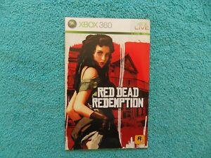 RED DEAD REDEMPTION - microsoft xbox 360 - original manual