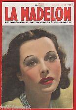Photo de charme. La Madelon N°62 (juillet 1939), magazine de la gaieté gauloise.