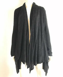 Piko 1988 Anthropologie Womens Waterfall Cardigan Sweater Open Front Charcoal M