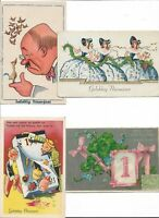 Happy New Year Beautiful Vintage Postcard Lot of 8    01.19
