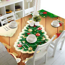 Christmas Wishes 3D Tablecloth Table cover Cloth Rectangle Wedding Party Banquet