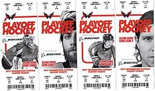 2017 RD 2 PITTSBURGH PENGUINS @ WASH CAPITALS - FULL TICKET STUB OVECHKIN CROSBY