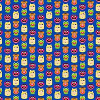 Disney Emojiland Muppets Friends 100% cotton Fabric by the yard