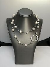 Fresh Water Pearl Crystal Snake Necklace