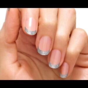 Color Street Nail Polish Strips French Diamond District HTF Retired Glitter Tips