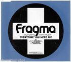 FRAGMA feat. MARIA RUBIA - EVERYTIME YOU NEED ME (3 tracks + video CD single)
